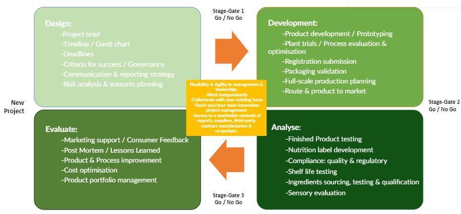 Project Management Graph Virtual NPD